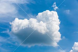 ハートの様な雲